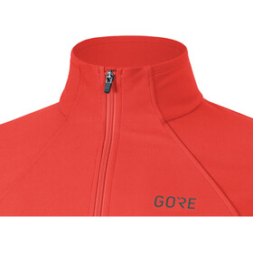 GORE WEAR R3 Partial Gore Windstopper Maillot Mujer, lumi orange/hibiscus pink